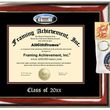 AllGiftFrames Chapman Custom Diploma Frame Embossed Best Graduation Degree Frame Chapman University Double Mat Campus Fisheye Picture Frame Cheap Degree Certificate Holder Graduate Gift