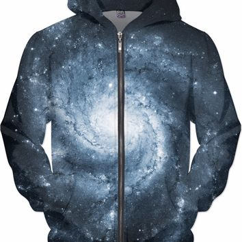 Blue Whirlpool Galaxy | Universe Galaxy Nebula Star Clothes | Rave & Festival Shirt
