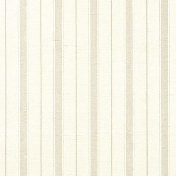 Phillip Jeffries Wallpaper 5602 Ticking Stripe - Beige on Cream Manila Hemp Beige
