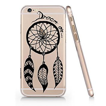Dream On Dream Catcher Ethnic Clear Transparent Plastic Phone Case for iphone 6 6s_ SUPERTRAMPshop (iphone 6)