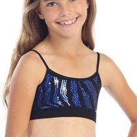 Kids Zebra Sequin Cami Top