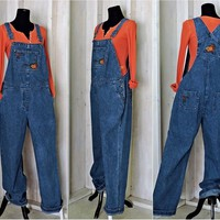 Womens overalls  size M  L / denim bib overalls / Fall embroidered overalls / denim overall jeans