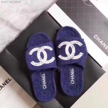 """CHANEL"" New Towel Slippers"