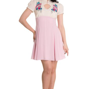 Hell Bunny Pretty Pink Geisha Mini Party Dress
