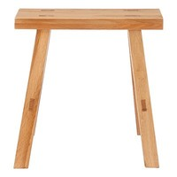 Oak Bench Small 17.7x11.8x17.3inch