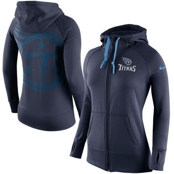 Tennessee Titans Nike Womens Warpspeed All Time Full-Zip Performance Hoodie – Navy Blue