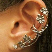 Flower Ear Clips Earrings