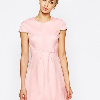 Ted Baker Embellished Skater Dress with Front Bow