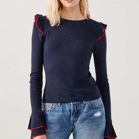 Cooperative Sofia Tulip-Sleeve Sweater   Urban Outfitters