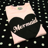 Oversized Pink MERMAID shirt in size S, M, or L