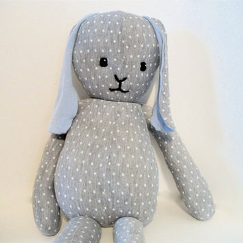Plush Bunny Gray and White Ecofriendly- Valancy
