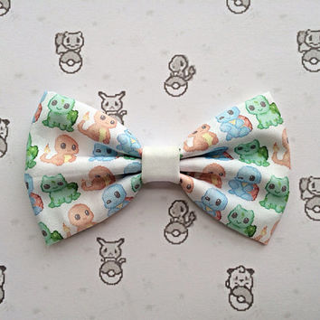Pokemon Chibi Inspired Hair Bow or Bow Tie Kawaii