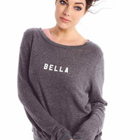 Wildfox Couture Baby Bella Baggy Beach Jumper in Dirty Black