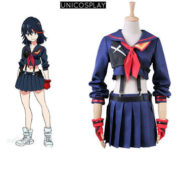 Anime KILL la KILL Ryuko Matoi Party Halloween Dress Cosplay costumes For Women Girls Navy Sailor Uniform Free Shipping