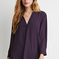 V-Placket Blouse