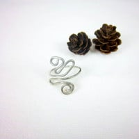 Silver Ring Wire Ring Adjustable Ring Swirl Ring Abstract Ring Knuckle Ring Fantasy Ring Gypsy Ring Silver Color Wire Hippie Jewelry