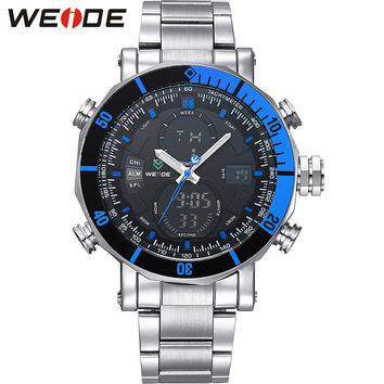 New Luxury Stainless Steel Band Analog Digital Waterproof Men's Quartz Clock Sports Watches Men Military Wrist Watch