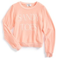 Girl's Wildfox 'Sandy Toes - Baggy Beach Jumper' Sweatshirt,