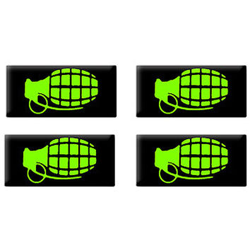 Hand Grenade - Set of 3D Stickers