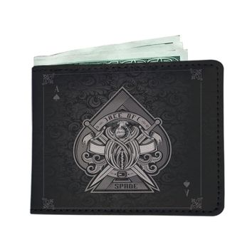 'Ace of Spades' [Poker] Black Men's Wallet