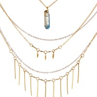 Two Tone Five Layer Necklace