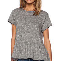 The Great The Ruffle Tee in Gray