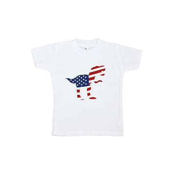 Custom Party Shop Kids Dinosaur 4th of July T-shirt