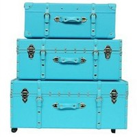 The Sorority College Trunk - Cyan Blue