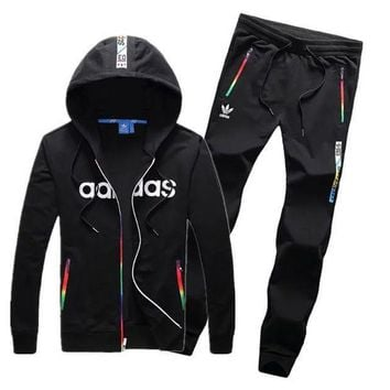 DCCKBA7 Adidas: couple sports suit clover