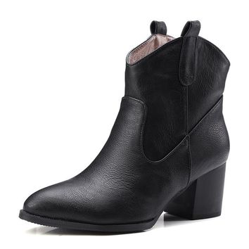 Western Cowboy Ankle Boots