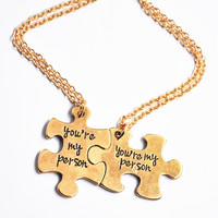 You're My Person Grey Anatomy Necklace