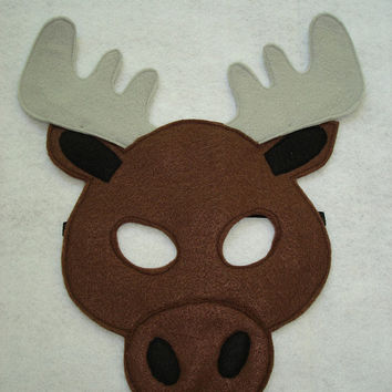 Children's MOOSE Felt Animal Mask