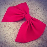 BIG PINK bow unique hair bow