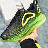 Nike Air Max 720 Black Bright Green Sport Running Shoes - Best Online Sale