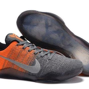 DCCKL8A Jacklish Nike Kobe 11 Elite Low Easter Grey Orange Newest Sale
