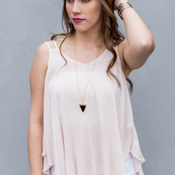 Make Me Blush Tank Top in Pink
