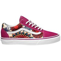 Vans Old Skool Geo Floral Women Shoes - Magenta/White