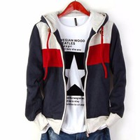 Men's Striped Hoodies Sweatshirts
