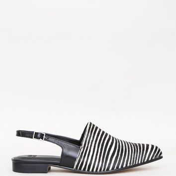 Oriana Black/White Stripe Pony