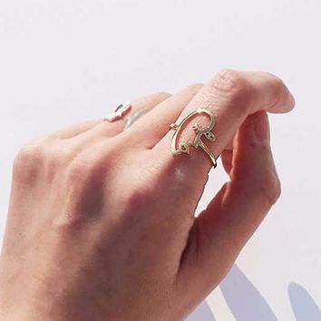 Hollow Face Statement Ring