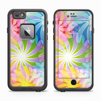 Hippy Rainbow Floral Print Skin for the Apple iPhone LifeProof Fre Case
