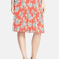 Junior Women's Soprano Print Pleated Midi Skirt,