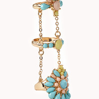 Cluster Faux Stone Knuckle Ring