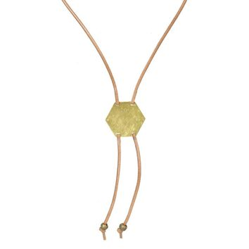 Hexagon Bolo Necklace