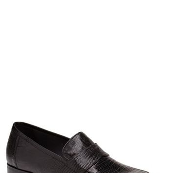 Men's Mezlan 'Emil' Lizard Penny Loafer,