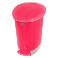 Room Essentials®  2.6 Gal Clear Step On Wastebasket - Set of 2 - Brilliant Coral