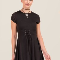Carah Corset Waist Knit Dress