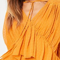 Missguided - Yellow Dobby Tiered Dress