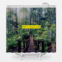 What A Wonderful World Shower Curtain
