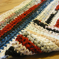 Playground Rectangular  Crochet Rag Rug  Ready to ship